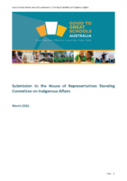 Submission to the House of reps Standing Committee March 2016